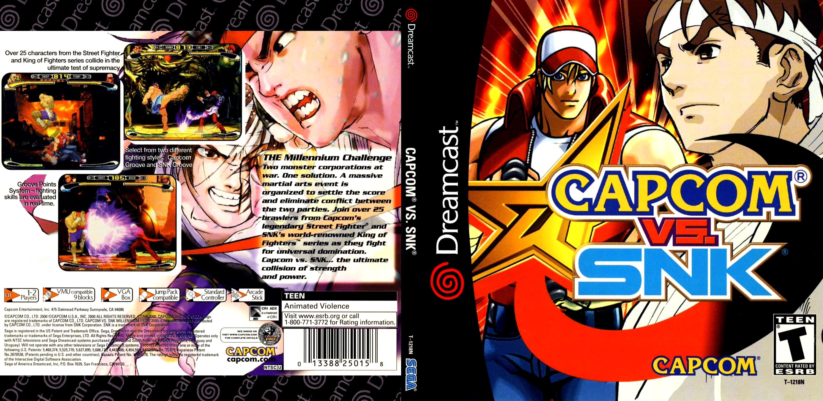 Capcom vs. SNK (USA) ISO < DC ...